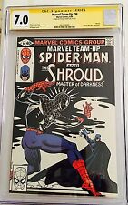 MARVEL TEAM-UP #94 SPIDER-MAN WITH THE SHROUD CGC 7.0 SS SIGNED BY STEVEN GRANT