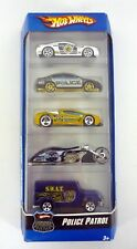 HOT WHEELS POLICE PATROL 5-PACK Gift Set Die-Cast Cars MISB 2006