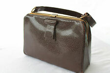True,Original Vintage 1930's/40's Brown Real Crocodile Leather Superb Condition
