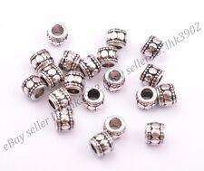 20/50/100Pcs Tibetan Silver Big Hole Spacer Beads for Bracklet 3MM Hole DB3031