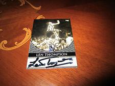 RARE COLLINGWOOD SELECT AFL HALL OF FAME LEN THOMPSON SIGNATURE CARD