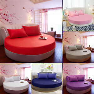 2/2.2m Pure Cotton Fitted Bed Sheet Round Princess Bed Mattress Cover Pillowslip