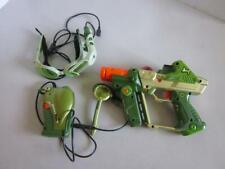 Hasbro Deluxe Lazer Tag Complete GREEN Set Gun Headset & Walkie Talkie Laser