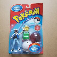 1998 Pokemon Deluxe Trainers Toy Figure Ash Pikachu #25