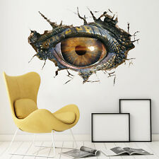 Dinosaur eyes 3d wall stickers personalized living room decoration waterproof