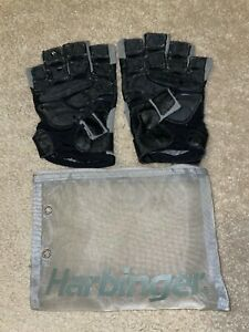 Harbinger BioForm Men's Weightlifting Workout Gloves 131523 (Gray, Medium)