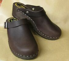Unisex Hand made Swedish Style Clogs Beautiful Soft Leather  £29.00