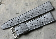 Grey curved end 22mm Tropic Swiss dive watch band 1960/70s fits 22mm chronograph