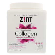 NEW Z!NT GRASS FED BEEF COLLAGEN HYDROLYZED TYPES I & II RECOVERY FORMULA CARE