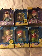 Rare Vintage 90s Lot of 6 Rugrats Dolls Figures Chuckie Reptar Dill Lil Mattel