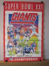 Giants 1987 Super Bowl XXI Champions Poster Signed by Brad Benson
