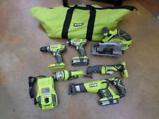 RYOBI 18 V ONE+ 6 Piece Tool Set W/ 2 Batteries and a Charger