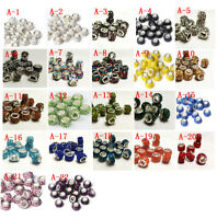 new 50pcs Czech crystal big hole Beads Fit DIY European Charm Bracelet wholesale