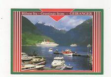 Hilsen Fra Geiranger Norway Postcard 577a