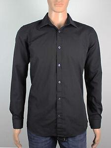 Taylor & Wright mens Size L 16 Neck long sleeve black shirt