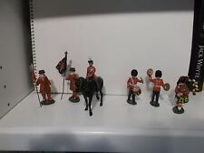 QEII mounted, 2 band, bag piper, and two guards - Vintage Lead soldiers