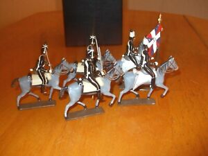 Mignot Mounted French Death Head Hussars toy soldiers