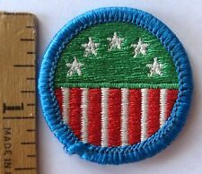 Girl Scout Junior 1990s SCOUTING IN THE U.S.A BADGE United States USA Flag Patch
