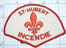 CANADA, ST-HUBERT FIRE SERVICE INCENDIE QUEBEC VINTAGE PATCH
