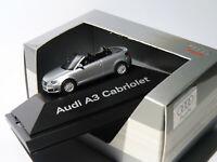 Audi A3 cabriolet (8P) Gris argent au 1/87 HO de Herpa