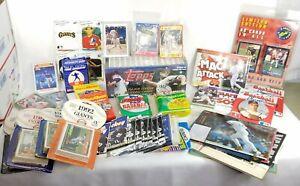 Mixed Sports cards and collectibles Junk drawer Lot Football Baseball Hockey