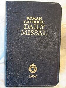 1962 Roman Catholic Daily Missal for the Traditional Latin Mass Black