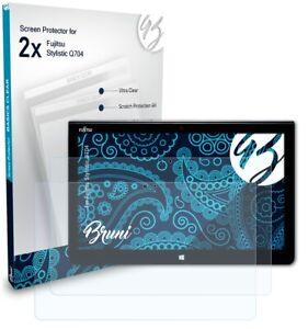 Bruni 2x Folie für Fujitsu Stylistic Q704 Schutzfolie Displayschutzfolie