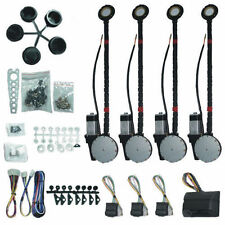 UNIVERSAL ELECTRIC WINDOWS 4 DOOR CAR TRUCK POWER WINDOW CONVERSION KIT ROLL UP