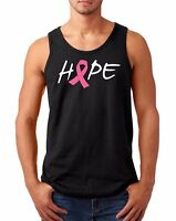 Men's Tank Top Hope T Shirt Pink Ribbon Tee Fight Against Breast Cancer T-Shirt