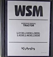 Kubota L3130, L3430, L3830, L4330, L4630, L5030  Service Workshop Repair Manual