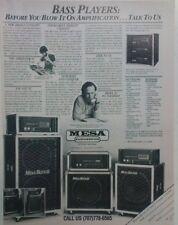 retro magazine advert 1984 MESA BOOGIE BASS