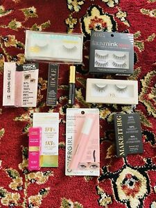 Lot Of 9Pc Mixed Brand Lashes & Mascaras Samples