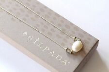 """Silpada NEW """"Simple Pearl"""" Sterling Silver Brass Pendant Necklace N3399"""