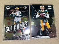 Aaron Rodgers 2020 Panini Mosaic Base + Got Game Lot Green Bay Packers