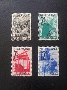 "Netherlands #B54-57 Used, 1932 ""Tourist"" Semi-Postals, Scott Value $ 41.50"