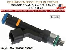 1 Fuel Injector OEM BOSCH for 2006-2015 Mazda 3, 5, 6, MX-5 MIATA 2.0L 2.3L I4