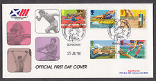 1986 SPORTS SET OF 5 ON D G TAYLOR OFFICIAL FDC WITH SPECIAL CANCELLATION