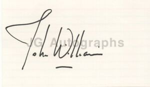 """John Williams - Iconic Film Composer: """"Star Wars"""" - Authentic Autograph"""
