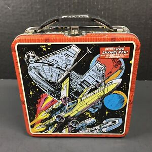 """Star Wars Comic Retro Millennium Falcon X-Wing Fighter TIN CARRY CASE approx 6"""""""