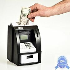 Electronic Coin Money Counter & Bill Slot Kids ATM Box Safe Digital Piggy Bank