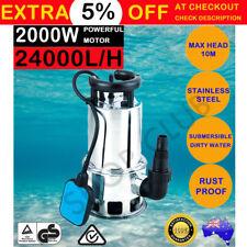 Submersible Dirty Water Pump Bore Sewage Septic Tank Garden Sewerage Clean 2000W