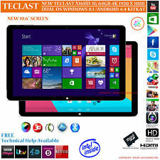 "Teclast x16hd 3G 10.6 "" 64GB GPS 2.16 GZ DUAL OS Windows 8.1 Android 4.4 Tablet PC"