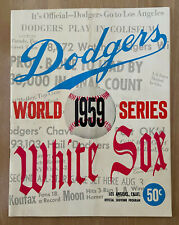 VINTAGE 1959 WORLD SERIES BASEBALL PROGRAM WHITE SOX @ DODGERS - KOUFAX DRYSDALE
