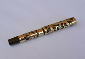 Vintage Original Waterman Style Pen  Filigree 14K Gold Filled