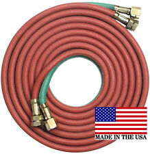 "25' x 1/4"" Goodyear/Continental Twin Torch Hose Oxygen Acetylene Welding Grade R"