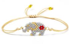Elephant MIYUKI Bracelet Seed Bead Japanese Jewelry