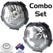 7 inch HID DRIVING SPOT LIGHTS 205mm COMBO SET - 55W 12V FREE COVERS - ABR UNITS