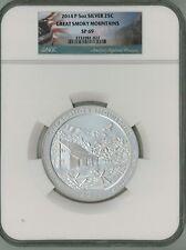 2014 P 25c 5 oz Silver ATB America Beautiful - Great Smoky Mountains SP69 NGC