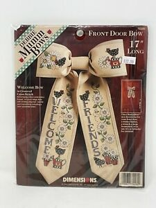 DIMENSIONS Counted Cross Stitch Kit DEBBIE MUMM FRONT DOOR BOW New