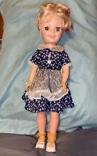 """Vintage Miss Sunbeam Advertising Eegee Sleepy Eyes Hp Doll 18"""" Tall"""